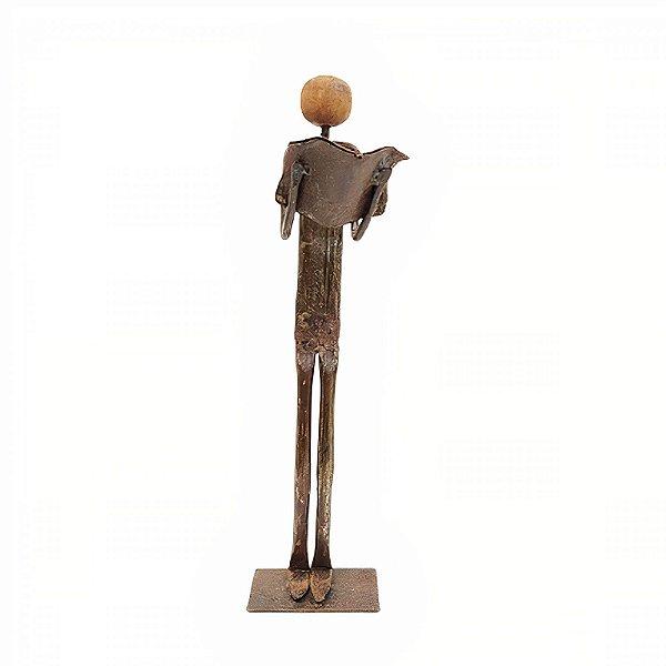 Escultura em Ferro Lendo - MG