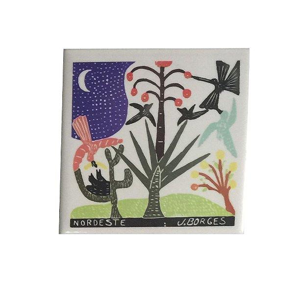 Azulejo em Xilogravura J.Borges - PE