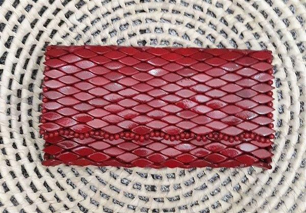Carteira de Madeira Vermelha- CE