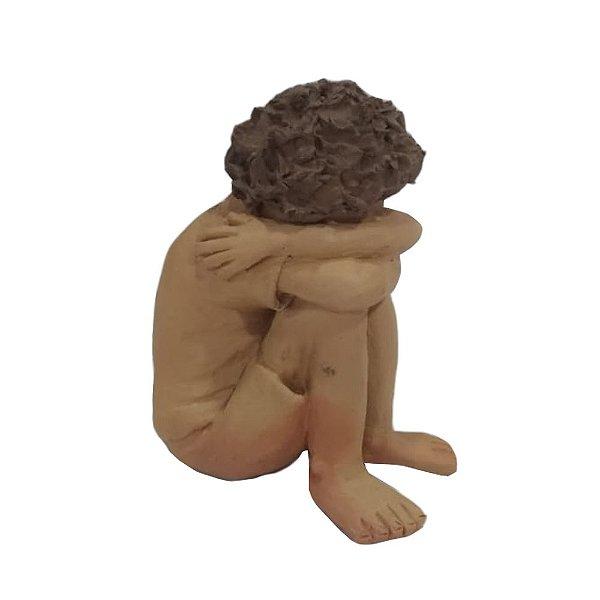 Escultura Menino em Barro - MG