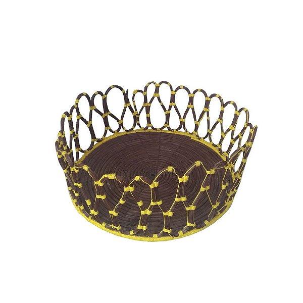 Cesto de Fibra de Piaçava Amarelo  - G - BA