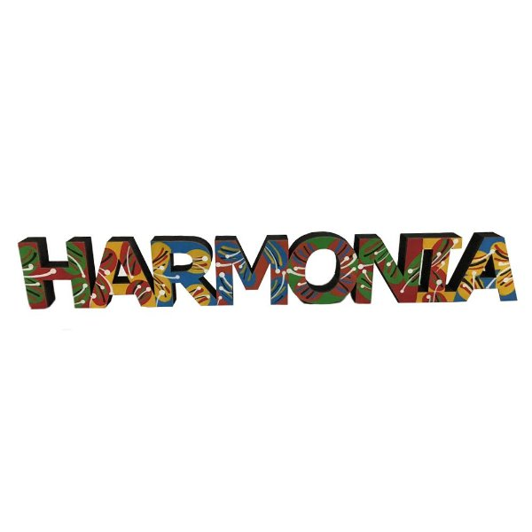 Palavra Harmonia em MDF - MG