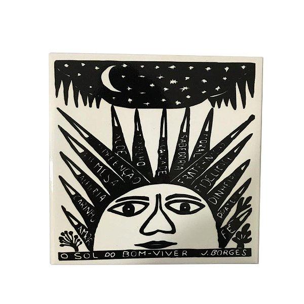 Azulejo em Xilogravura O Sol do Bom-Viver J. Borges - PE