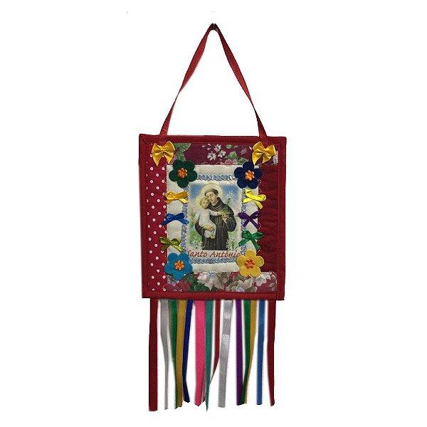 Estandarte Mini Santo Antonio em Tecido - MG