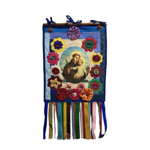 Estandarte  Santo Antonio em Tecido G - MG