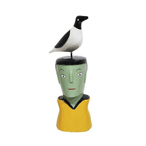 Cabeça com pássaro Cícero - Ilha do Ferro - AL