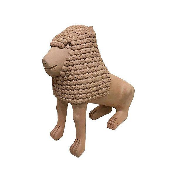Leão em cerâmica  Mestre Marcos de Nuca - PE