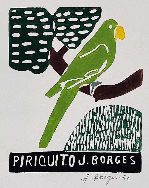 """Xilogravura """"Piriquito"""" P - J. Borges - PE"""