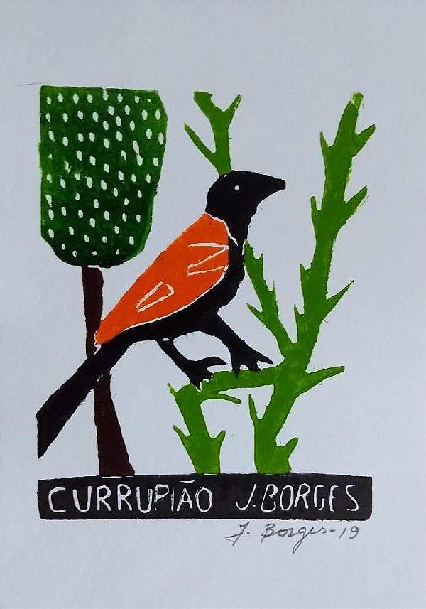 Xilogravura J. Borges Currupião P - PE