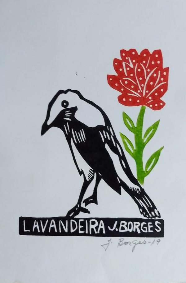 Xilogravura J. Borges Lavandeira P - PE