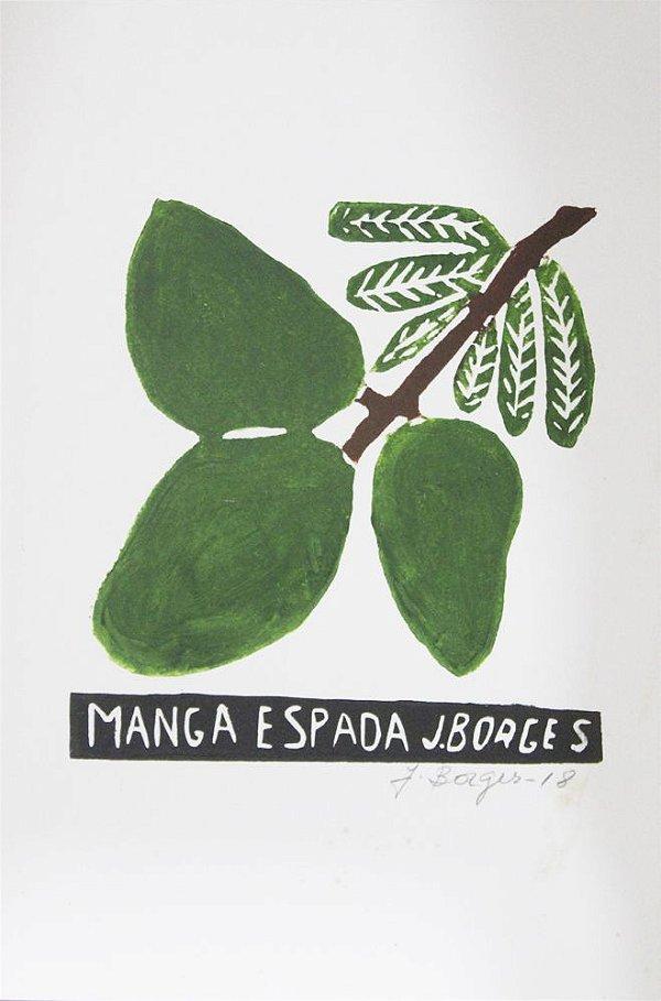 Xilogravura J. Borges Manga Espada P- PE