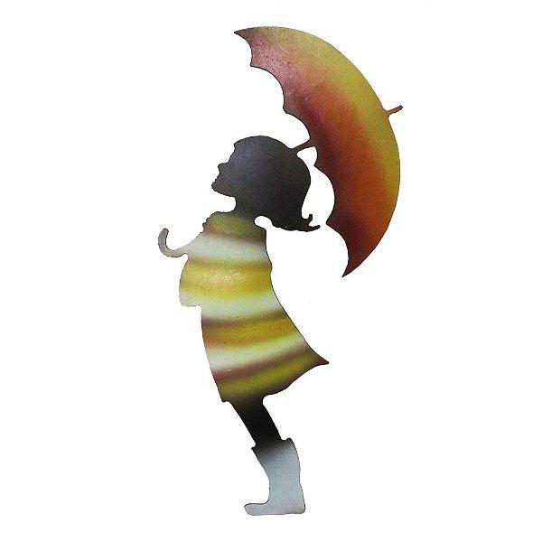 Menina com Guarda-Chuva Ferro - MG