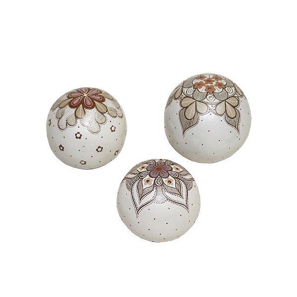Jogo de Esferas Decorativas Alaize