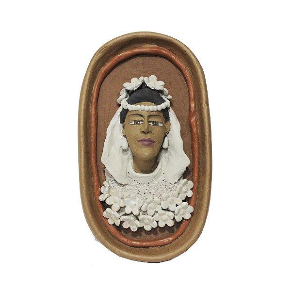 Quadro Noiva em Cerâmica - MG