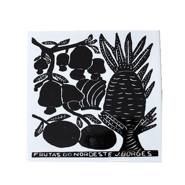 Azulejo em Xilogravura Frutas do Nordeste J. Borges - PE