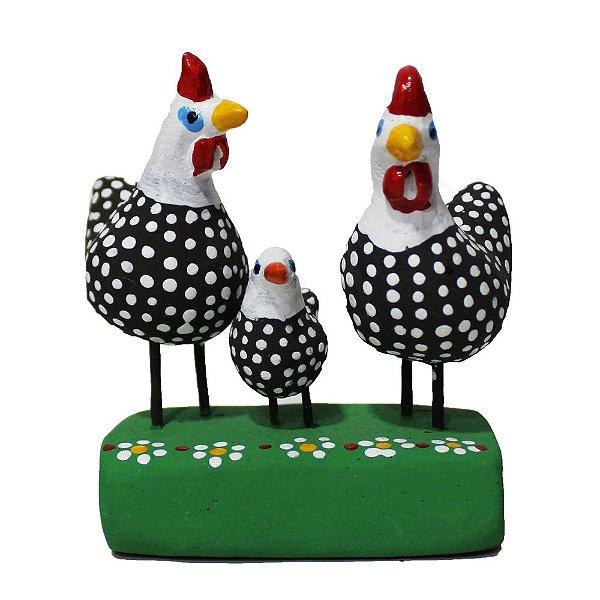 Mini Escultura Galinhas - Figureiras de Taubaté