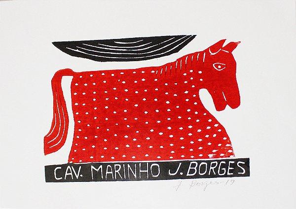 Xilogravura J. Borges Cavalo Marinho P- PE