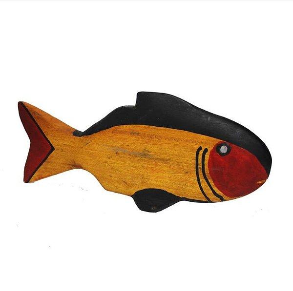 Peixe em Madeira Etnia Mehinako - MT