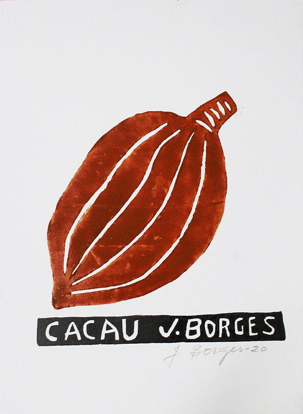 Xilogravura J. Borges Cacau P - PE