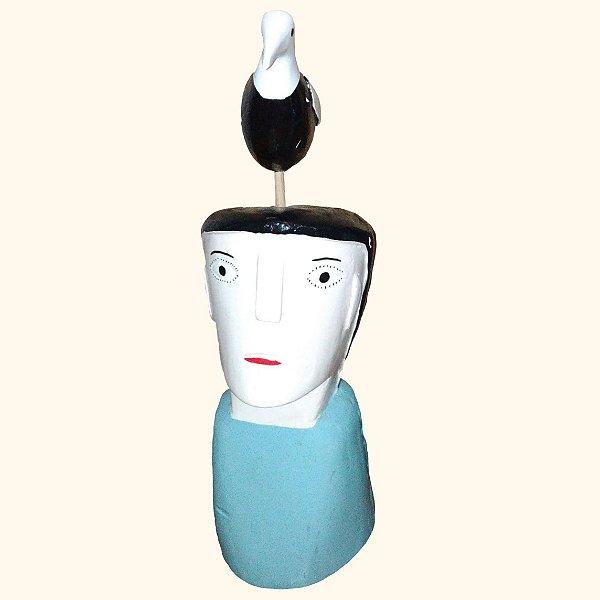 Cabeça com pássaro P Cicero- Ilha do Ferro - AL