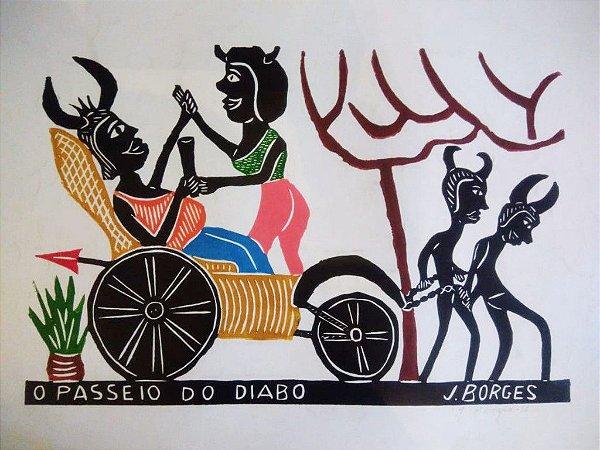 Xilogravura J. Borges O Passeio do Diabo G - PE