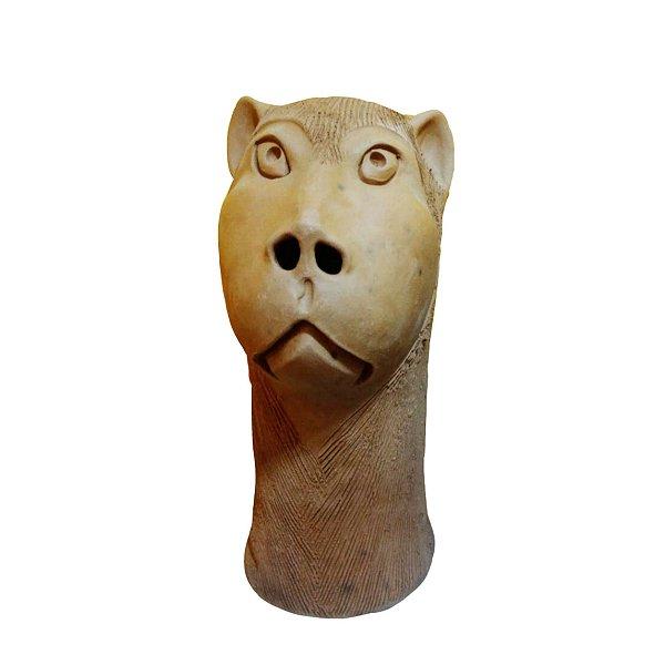 Carranca em cerâmica P- Ana das carrancas - PE