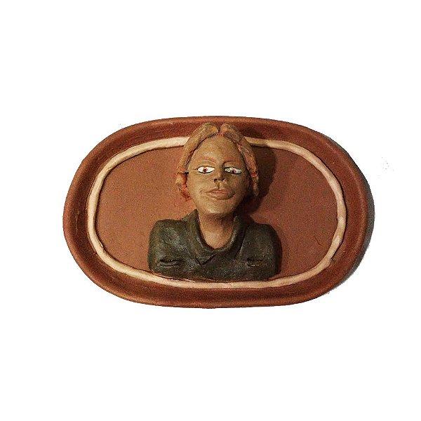 Quadro Homem em cerâmica da Néia - MG