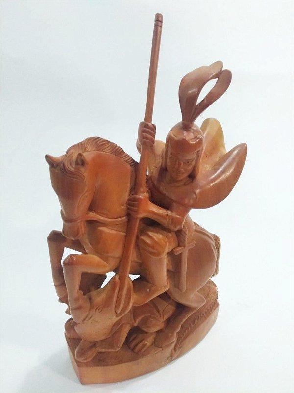 São Jorge em madeira do Nil Morais - CE