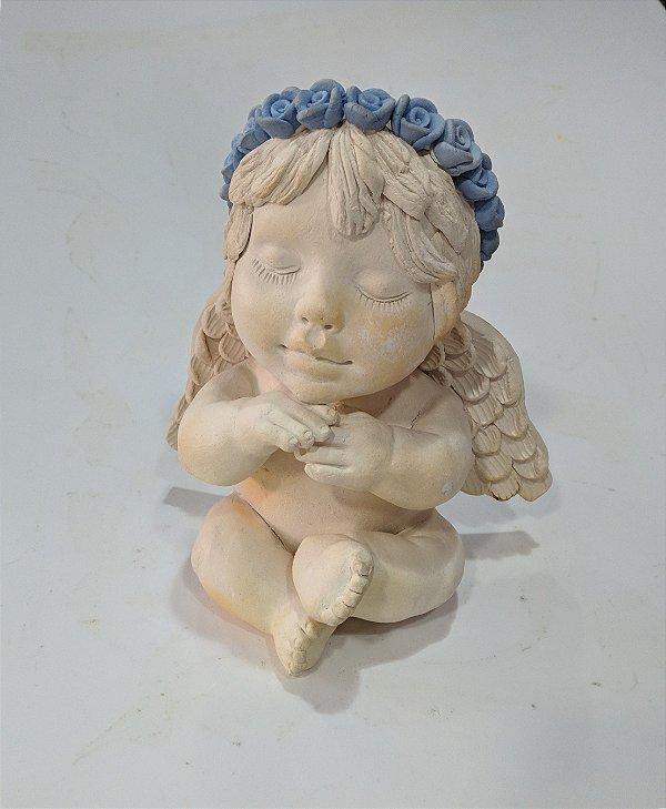 Anjo em Cerâmica - Mena Cavalcanti P- PB
