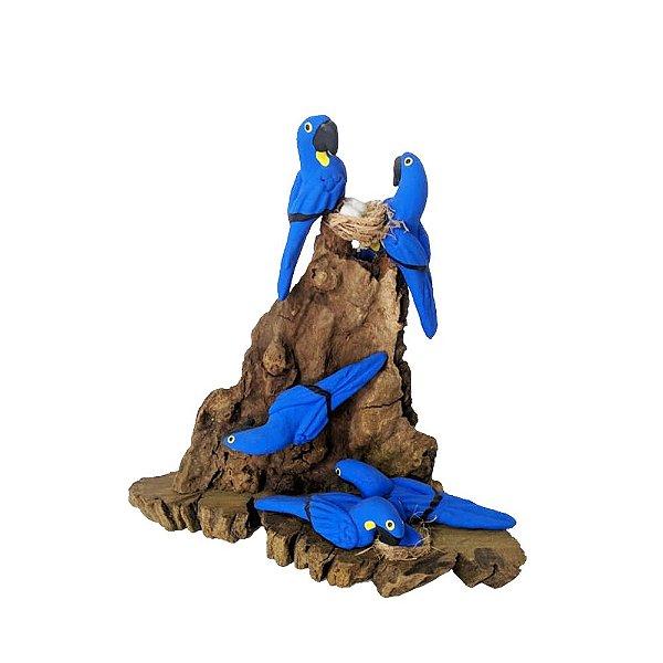 Tronco Com 6 araras azul- MS