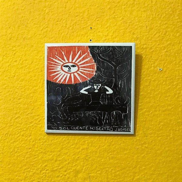 """Azulejo """"O Sol Quente do Sertão"""" do J. Borges M - PE"""