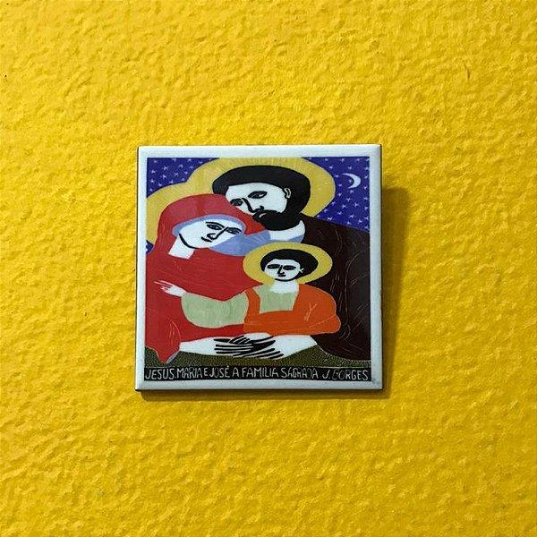 "Azulejo ""Jesus, Maria e José a Família Sagrada"" do J. Borges P - PE"