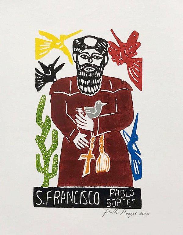 Xilogravura Pablo Borges São Francisco P- PE