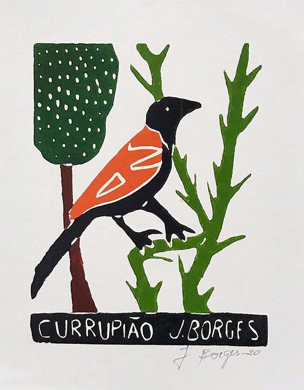 Xilogravura J. Borges Currupião P- PE