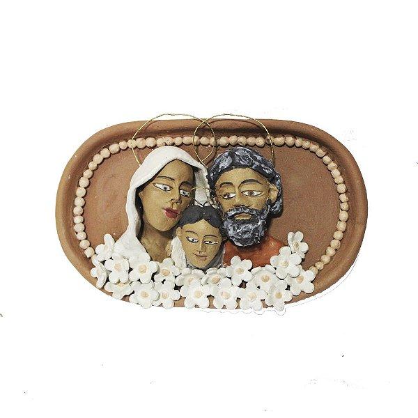 Quadro Sagrada Família em cerâmica  - MG