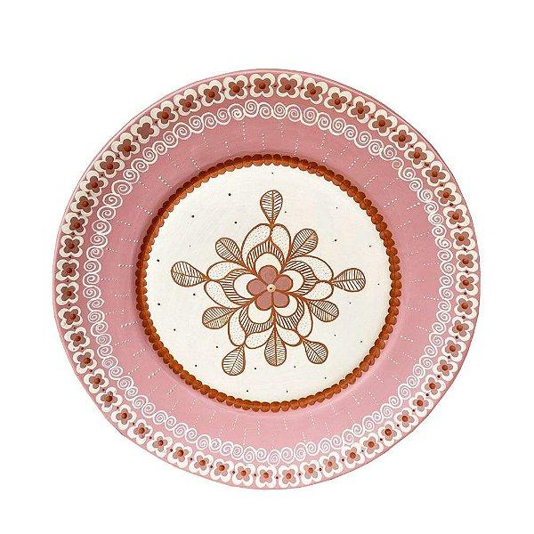 Prato Parede Rosa Antigo - Nayane