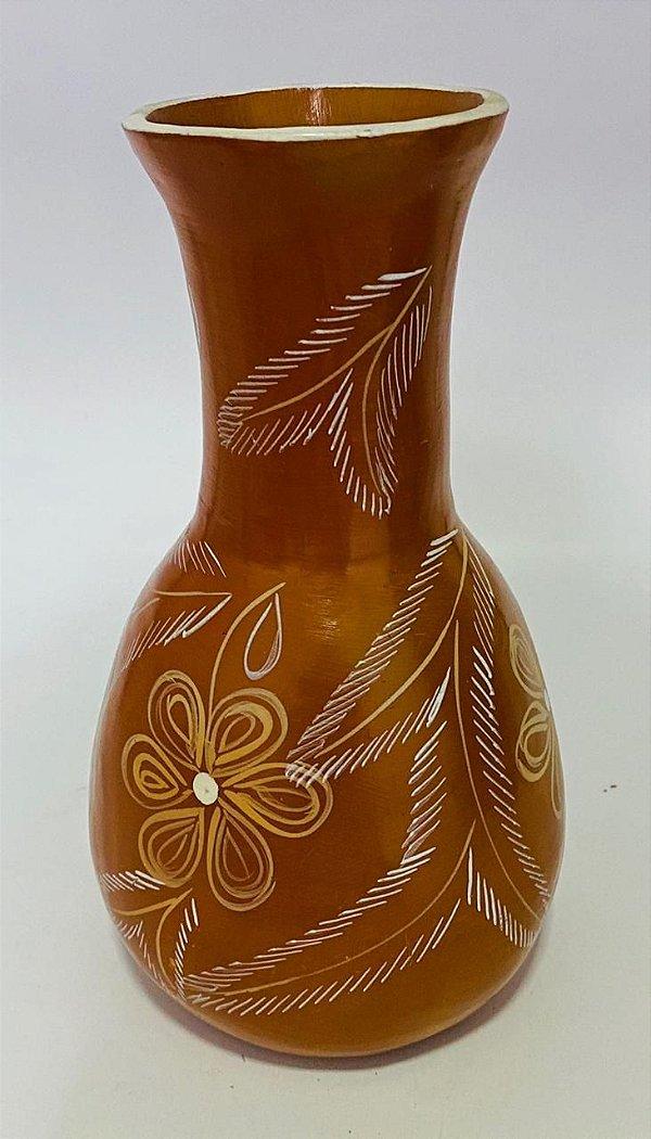 Vaso Floral vermelho - Ana - Vale do Jequitinhonha - MG