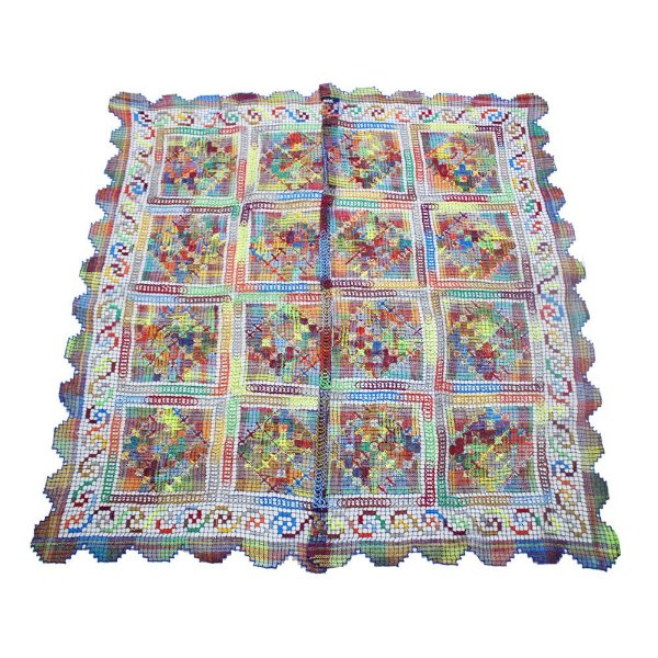 Toalha quadrada de renda de filé - 1,80 x 1,80 - CE