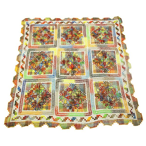 toalha renda de filé quadrada colorida 1,50 x 1,80 - CE