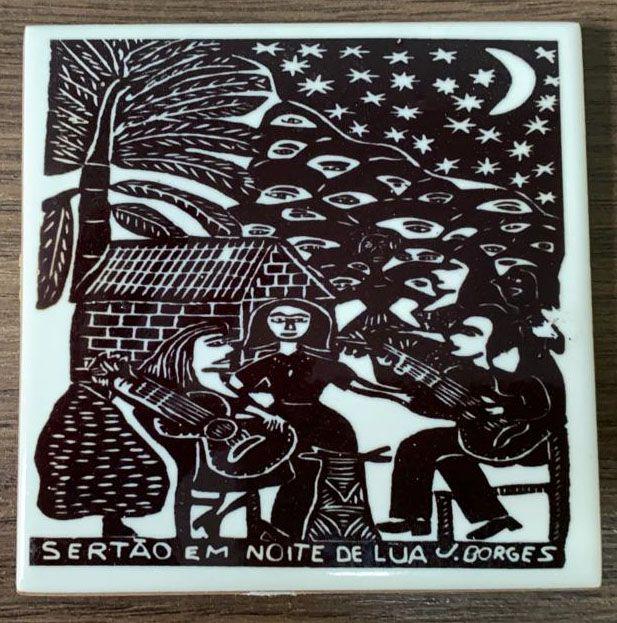 """Azulejo PB """"Sertão em Noite de Lua"""" do J. Borges P - PE"""