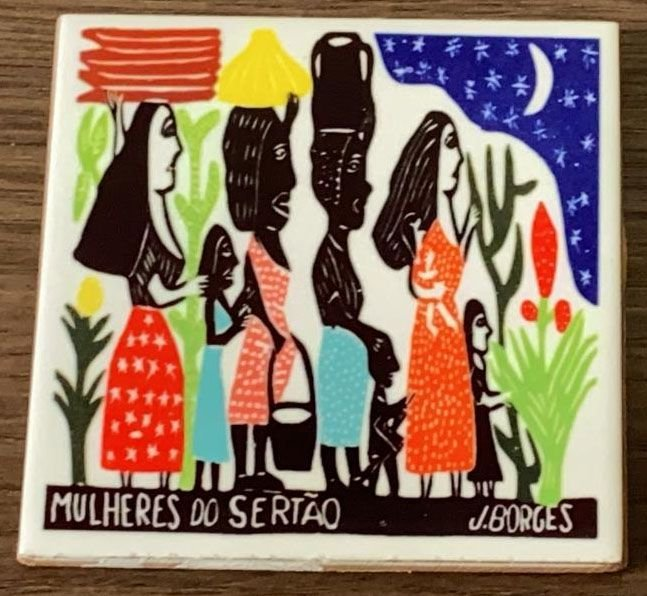 """Azulejo Color """"Mulheres do Sertão"""" do J. Borges P - PE"""