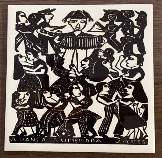 """Azulejo PB """"A Dança da Umbigada"""" do J. Borges M - PE"""