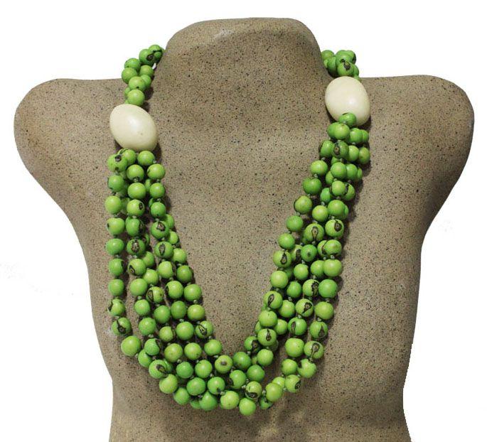 colar de açaí verde com jarina - AM