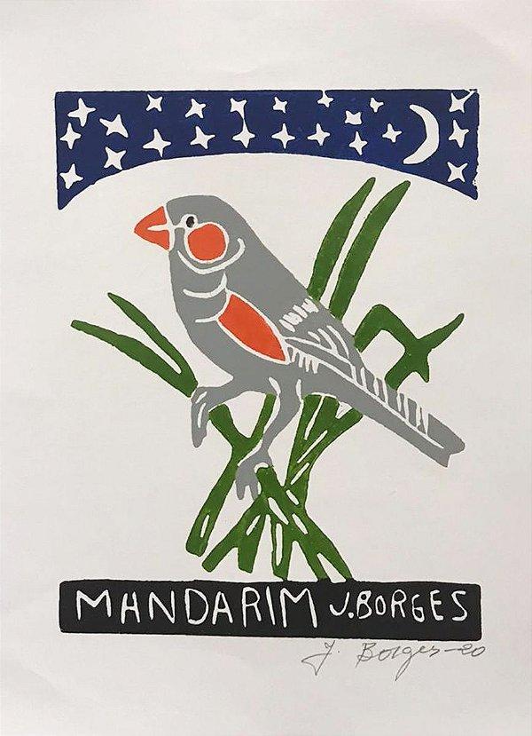 Xilogravura J. Borges Mandarim P- PE
