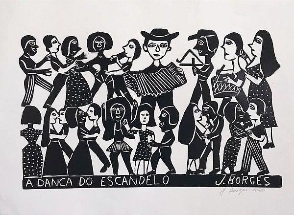 Xilogravura J. Borges A Dança do Escandelo- G - PE