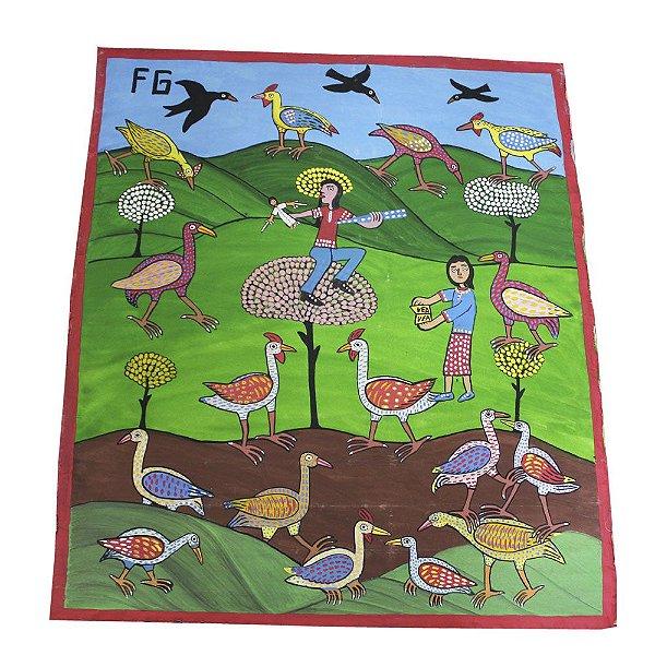 "Tela ""Brincando na Natureza"" do Francisco Graciano - CE"