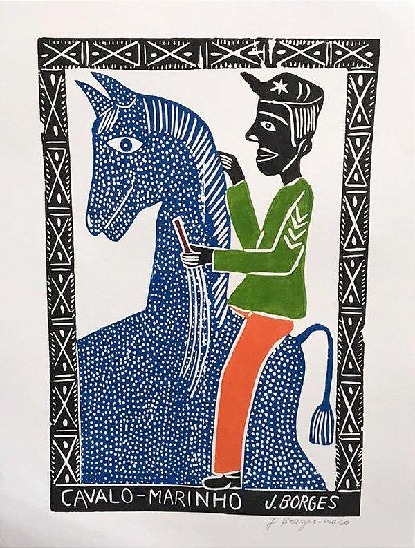 Xilogravura J. Borges Cavalo-Marinho G - PE