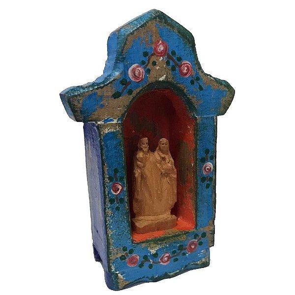 Mini Oratório A Sagrada Família - Cores variadas - MG