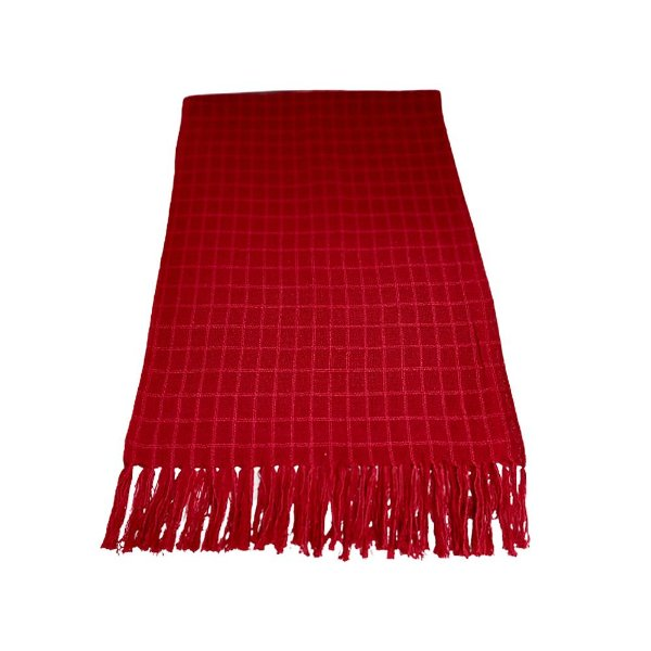 Manta de Tear Manual Vermelha 1,30 x 1,90 - MG