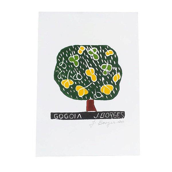 """Xilogravura """"Gogoia"""" - J. Borges - PE"""